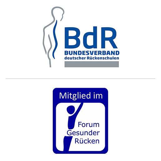 Logos BdR und Forum Gesunder Rücken